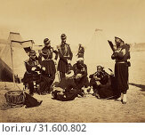 Купить «Camp de Châlons: Zouaves de la Garde au Bivouac, Gustave Le Gray (French, 1820 - 1884), Chalons, France, 1857, Albumen silver print», фото № 31600802, снято 7 сентября 2018 г. (c) age Fotostock / Фотобанк Лори