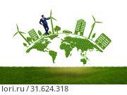 Купить «Concept of clean energy and environmental protection», фото № 31624318, снято 25 января 2020 г. (c) Elnur / Фотобанк Лори