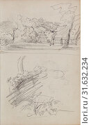 Купить «View of a Country House and Studies of Bushes and Foliage, Théodore Géricault, French, 1791 - 1824, 1812 - 1814, Graphite, 15.2 x 10.6 cm (6 x 4 3/16 in.)», фото № 31632234, снято 3 октября 2013 г. (c) age Fotostock / Фотобанк Лори