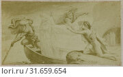 Drawing by F. Barrias: Virgil scene from the Georg Icon, wife away in boat, Anonymous (2016 год). Редакционное фото, фотограф Artokoloro / age Fotostock / Фотобанк Лори