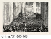 Купить «EIGHT HUNDREDTH ANNIVERSARY OF WINCHESTER CATHEDRAL: MUSICAL SERVICE IN THE NAVE, UK, 1893 engraving», фото № 31660966, снято 11 апреля 2012 г. (c) age Fotostock / Фотобанк Лори