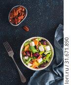 Купить «Beetroot, Feta Cheese and Orange Salad.», фото № 31671890, снято 21 января 2018 г. (c) Ольга Сергеева / Фотобанк Лори