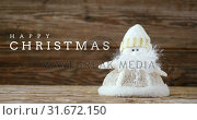 Купить «Christmas greeting with Christmas doll 4k», видеоролик № 31672150, снято 30 сентября 2018 г. (c) Wavebreak Media / Фотобанк Лори