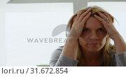 Купить «Woman relaxing at home 4k», видеоролик № 31672854, снято 24 августа 2018 г. (c) Wavebreak Media / Фотобанк Лори