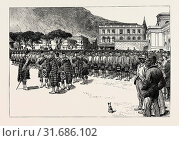 A PARADE OF THE HIGHLAND COMPANIES OF THE CAPETOWN VOLUNTEERS, AT CAPETOWN, SOUTH AFRICA 1889 (2016 год). Редакционное фото, фотограф Artokoloro / age Fotostock / Фотобанк Лори