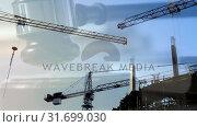 Купить «Digital animation of buildings under construction 4k», видеоролик № 31699030, снято 26 октября 2018 г. (c) Wavebreak Media / Фотобанк Лори