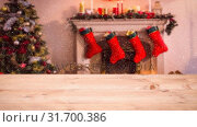 Купить «Blurred living room decorated for christmas combined with falling snow», видеоролик № 31700386, снято 2 ноября 2018 г. (c) Wavebreak Media / Фотобанк Лори