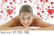 Купить «Pretty woman at spa smiling to the camera », видеоролик № 31701186, снято 6 ноября 2018 г. (c) Wavebreak Media / Фотобанк Лори