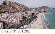 Купить «Picturesque panorama of coastal area of Spanish town of Alicante overlooking of Port», видеоролик № 31701202, снято 17 апреля 2019 г. (c) Яков Филимонов / Фотобанк Лори