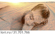 Купить «Beautiful blonde women relaxing at spa and aerial view of fields», видеоролик № 31701766, снято 6 ноября 2018 г. (c) Wavebreak Media / Фотобанк Лори