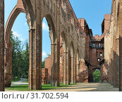 Купить «Руины домского собора в Тарту, Эстония», фото № 31702594, снято 24 июля 2016 г. (c) Михаил Марковский / Фотобанк Лори