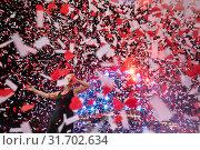 """Лидер рок-группы """"Ночные снайперы"""", российская певица Диана  Арбенина во время выступления на главной сцене юбилейного рок-фестиваля """"Нашествие. Двадцать лет"""", Россия (2019 год). Редакционное фото, фотограф Николай Винокуров / Фотобанк Лори"""