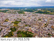 View of Lugo district with buildings and landscape, Galicia (2019 год). Стоковое фото, фотограф Яков Филимонов / Фотобанк Лори