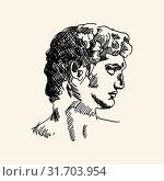 Greek male profile. Стоковая иллюстрация, иллюстратор Михаил Гойко / Фотобанк Лори