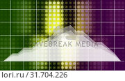 Stock prices moving against colorful grid background. Стоковое видео, агентство Wavebreak Media / Фотобанк Лори