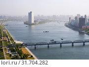 Купить «Pyongyang, capital of the North Korea. DPRK», фото № 31704282, снято 1 мая 2019 г. (c) Знаменский Олег / Фотобанк Лори