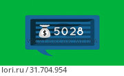 Купить «Money bag icon and numbers 4k», видеоролик № 31704954, снято 26 марта 2019 г. (c) Wavebreak Media / Фотобанк Лори