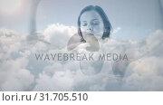 Купить «Woman meditating about the sky», видеоролик № 31705510, снято 5 апреля 2019 г. (c) Wavebreak Media / Фотобанк Лори