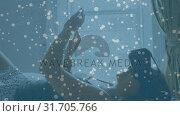 Купить «Woman lying in bed while wearing a virtual reality headset», видеоролик № 31705766, снято 25 апреля 2019 г. (c) Wavebreak Media / Фотобанк Лори