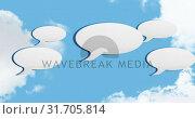 Купить «Message bubble icons 4k», видеоролик № 31705814, снято 8 мая 2019 г. (c) Wavebreak Media / Фотобанк Лори