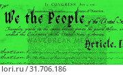 Купить «Written constitution of the United States 4k», видеоролик № 31706186, снято 24 мая 2019 г. (c) Wavebreak Media / Фотобанк Лори