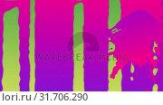 Купить «Pink and purple paint drips on green», видеоролик № 31706290, снято 13 июня 2019 г. (c) Wavebreak Media / Фотобанк Лори