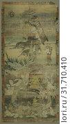 Купить «Lohans, c. 1300-1350. Sino-Tibetan, Yuan dynasty (1271-1368). Color and gold on cotton, overall: 72.5 x 34.7 cm (28 9/16 x 13 11/16 in.).», фото № 31710410, снято 13 февраля 2019 г. (c) age Fotostock / Фотобанк Лори