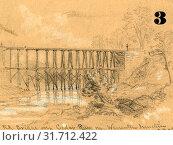 Купить «R.R. bridge over Cedar Run in Warrenton Junction, between 1860 and 1865, drawing on tan paper pencil and Chinese white, 7.8 x 10.6 cm. (sheet), 1862-1865...», фото № 31712422, снято 7 августа 2014 г. (c) age Fotostock / Фотобанк Лори
