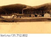 Ironworks in Saxony, Industry in Saxony, Schmiedeberg (Erzgebirge), 1903, Landkreis Sächsische Schweiz-Osterzgebirge, Schmiedeberg, Eisenwerk, Germany (2019 год). Редакционное фото, фотограф Liszt Collection / age Fotostock / Фотобанк Лори