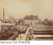 Купить «Beating by Machinery, Oscar Mallitte (British, about 1829 - 1905, active Allahabad, India 1870s), Allahabad, India, 1877, Albumen silver print», фото № 31714570, снято 7 сентября 2018 г. (c) age Fotostock / Фотобанк Лори