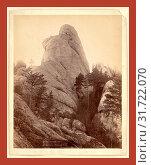 Купить «Calamnity, Calamity Peak. Near Custer City on B. & M. R'y. Title of Peak from the most noted character in Black Hills, John C. H. Grabill was an american...», фото № 31722070, снято 1 июля 2013 г. (c) age Fotostock / Фотобанк Лори