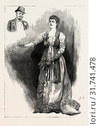 ARIANE, Mrs. Bernard-Beere ARIANE AT THE OPERA Comique, play in london, UK, britain, united kingdom, u.k., great britain, 1888 engraving (2012 год). Редакционное фото, фотограф Artokoloro / age Fotostock / Фотобанк Лори