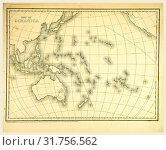 Купить «Mitchell's Atlas of outline maps, map of Oceanica, 19th century engraving, Oceania», фото № 31756562, снято 7 августа 2014 г. (c) age Fotostock / Фотобанк Лори