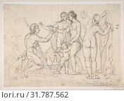Купить «Judgment of Paris, after Raphael, 1483–1520, Black chalk scrawled over with pen and ink indication of head of Venus by a more skillful hand, 9 x 12 3...», фото № 31787562, снято 22 мая 2017 г. (c) age Fotostock / Фотобанк Лори
