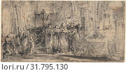 Купить «Coronation Regalia Carried in Procession at Saint-Denis, 1775, Pen and black ink, brush and gray wash, over black chalk., 2 1/16 x 4 1/16 in. (5.2 x 10...», фото № 31795130, снято 21 мая 2017 г. (c) age Fotostock / Фотобанк Лори