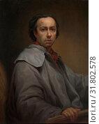 Self-Portrait, 1776, Oil on canvas, 35 1/2 x 25 7/8 in. (90 x 65.5 cm), Paintings, Anton Raphael Mengs (German, Ústi nad Labem (Aussig) 1728–1779 Rome... (2017 год). Редакционное фото, фотограф © Copyright Artokoloro Quint Lox Limited / age Fotostock / Фотобанк Лори