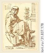 Купить «Jacques Stella, French (1596-1657), Sibylla Hellespontina, 1625, woodcut», фото № 31837178, снято 6 августа 2014 г. (c) age Fotostock / Фотобанк Лори