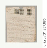 Купить «Letter, late 18th–early 19th century, French, No dimensions recorded., Textiles-Archives», фото № 31837886, снято 18 июня 2017 г. (c) age Fotostock / Фотобанк Лори