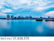 Купить «Morning blue housr over philadelphia pa», фото № 31838570, снято 7 июня 2020 г. (c) age Fotostock / Фотобанк Лори