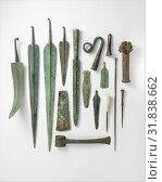 Купить «Tin-bronze scepter head, Late Cypriot II–III, ca. 1450–1050 B.C., Cypriot, Bronze, tin, H. 5 13/16 in. (14.7 cm), Bronzes, The scepter head is topped...», фото № 31838662, снято 15 мая 2017 г. (c) age Fotostock / Фотобанк Лори