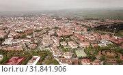 Roofs of town in La Mancha region. Ciudad Real. Spain (2019 год). Стоковое видео, видеограф Яков Филимонов / Фотобанк Лори