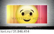 Купить «Wink smiley on Canvas», видеоролик № 31846414, снято 20 ноября 2018 г. (c) Wavebreak Media / Фотобанк Лори