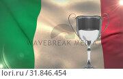 Italian Flag video. Стоковое видео, агентство Wavebreak Media / Фотобанк Лори