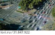 Купить «Aerial view of crossroads and lights in network», видеоролик № 31847922, снято 13 декабря 2018 г. (c) Wavebreak Media / Фотобанк Лори