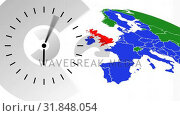 Animated clock video. Стоковое видео, агентство Wavebreak Media / Фотобанк Лори