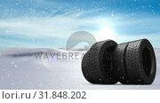 Купить «Animated snow with wheels», видеоролик № 31848202, снято 11 декабря 2018 г. (c) Wavebreak Media / Фотобанк Лори