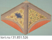 Купить «Designs for the painted decoration of a vaulted ceiling, 1830–97, gra[jote. [em amd oml. And watercolor on wove paper mounted on blue paper, Overall...», фото № 31851526, снято 26 апреля 2017 г. (c) age Fotostock / Фотобанк Лори