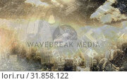 Купить «Aerial view of city with traffic and expressway », видеоролик № 31858122, снято 26 ноября 2018 г. (c) Wavebreak Media / Фотобанк Лори