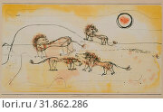A Pride of Lions (Take Note!), 1924, Watercolor, brush, and ink on paper mounted on cardboard, 10 1/2 × 16 5/8 in. (26.7 × 42.2 cm), Drawings, Paul Klee... (2017 год). Редакционное фото, фотограф © Copyright Artokoloro Quint Lox Limited / age Fotostock / Фотобанк Лори
