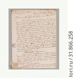 Купить «Textile swatch to accompany letter, early 19th century, French, No dimensions recorded., Textiles-Archives», фото № 31866258, снято 18 июня 2017 г. (c) age Fotostock / Фотобанк Лори